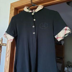 Authentic Burberry ruffle collar shirt